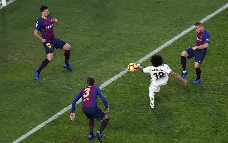 El Clasico Marcelo mencetak gol pada menit ke 50